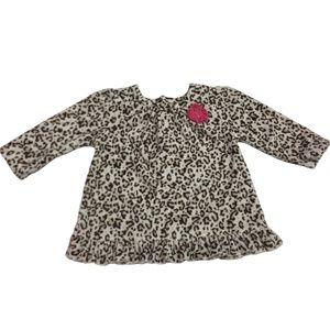 Infant Girls Animal Print Fleece Dress
